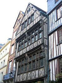 Rouen, medieval house