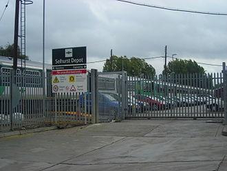 Selhurst railway station - Selhurst Depot main entrance just opposite Selhurst station