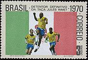 Selo da Copa de 1970 3 cruzeiros