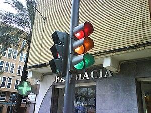 Traffic light in Spain