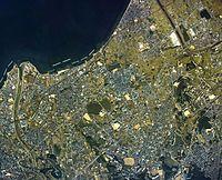 Sennan city center area Aerial photograph.1985.jpg