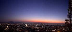 Namsan (Seoul) - Seoul at dusk as viewed from Namsan Park