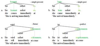 Separable verb - Separable verbs trees 1
