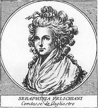 Alessandro Cagliostro - Lorenza Seraphina Feliciani, his wife