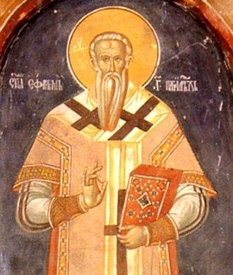 Jefrem (patriarch) - Fresco of Jefrem from the Patriarchal Monastery of Peć