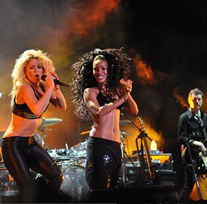 "She Wolf - Shakira performing the lead single ""She Wolf"" during a concert show of The Sun Comes Out World Tour."