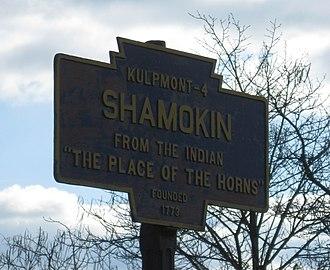 Shamokin, Pennsylvania - Image: Shamokin, PA Keystone Marker