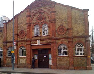 City of London Artillery - Drill Hall built in 1898 for some of the batteries of the 1st London Artillery Volunteers, Shepherd's Bush, London. Later used by the 7th London Brigade, Royal Field Artillery (TF)
