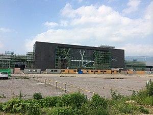 Shin-Hakodate-Hokuto Station - Shin-Hakodate-Hokuto station under construction, July 2014