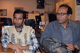 Shobuj Taposh & Hafiz Rashid Khan at BNWIKI12 celebration in Chittagong (02).jpg