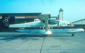 Olympic Aviation Flight 545 - The aircraft which was involved in the accident, seen on a delivery flight in Côte d'Azur Airport in May 1982.