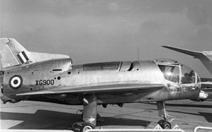 Short SC.1 - XG900 Short SC.1 at the SBAC show in 1961, showing the oleo leg fairings and the lift engine automatic inlet louvres added in mid-1960