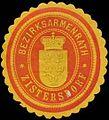 Siegelmarke Bezirksarmenrath Zistersdorf W0320938.jpg