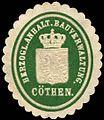 Siegelmarke Herzoglich Anhaltische Bauverwaltung Cöthen W0246814.jpg