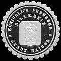 Siegelmarke Königreich Preussen Stadt Haiger - Dillkreis W0313442.jpg
