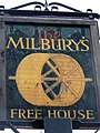 Sign for the Milbury's - geograph.org.uk - 1340062.jpg