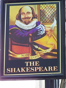 Sign for the Shakespeare Inn, Scarborough - geograph.org.uk - 650879