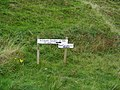 Sign posts to St Columba's Well and footprints and Keil Caves - geograph.org.uk - 1540613.jpg