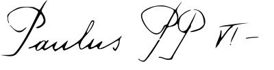 Paul VI's signature