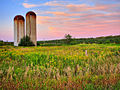 Silos at a farm on the Oak Ridges Moraine in 2006.jpg