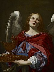 Angels with Attributes of the Passion: Angel Holding the Vessel and Towel for washing the hands of Pontius Pilate