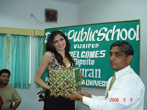 Simran Kaur Mundi at Delhi Public School, Vijaipur, M.P., India