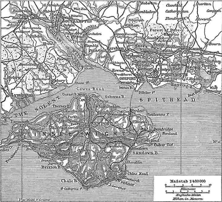 Situationsplan von Portsmouth-Southampton