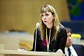 Siv Fridleifsdottir Island talar vid Nordiska radets session i Stockholm 2009.jpg