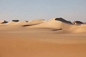 Great Sand Sea - The dunes of the Great Sand Sea near Siwa, Egypt