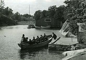Swedish Naval Volunteers - Rowing Exercise of the Aspirant School Finnhamn 1942.
