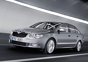 A Škoda Superb II car.