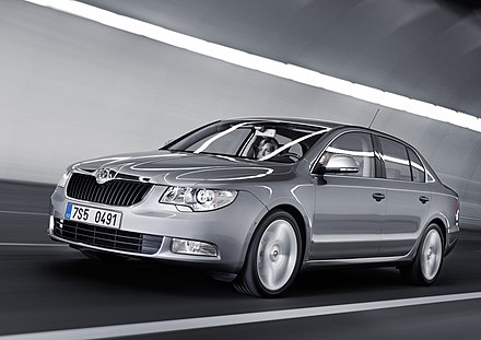 Skoda Auto is one of the largest car manufacturers in Central Europe. A Skoda Superb is pictured. SkodaSuperbII.jpg