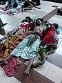 Sleeping Family - Barasat Junction Railway Station - North 24 Parganas 2016-04-26 02083.jpg