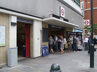Sloane Square tube station - Entrance on Sloane Square