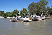 One of several self-propelled cable ferries that cross the lower reaches of the Murray River