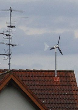 Small Wind Turbine On Roof