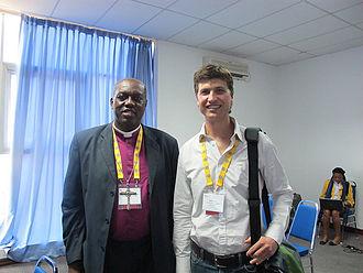 Solomon Tilewa Johnson - Solomon Tilewa Johnson (left), in 2010