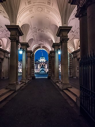 Somerset House - Night view from beneath the Strand entrance