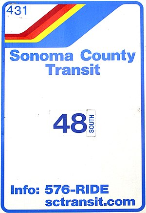Sonoma County Transit - Typical bus stop sign