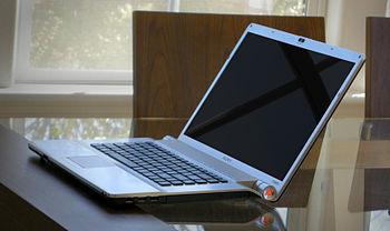 English: Sony VAIO VGN-FW590 laptop, in sleep ...