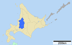 Location of Sorachi Subprefecture