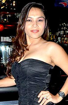South Actress Ragasiya at TGIF anniversary bash (1) (cropped).jpg
