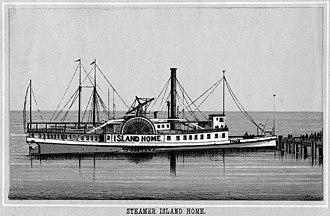 Island Home (steamboat) - Island Home from an 1890s souvenir booklet