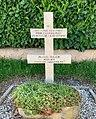 Stèle (croix de Lorraine) sur le lieu de mort de Marcel Julien (Faramans, Ain, France).jpg