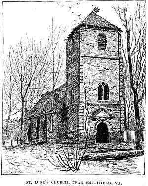 St. Luke's Church (Smithfield, Virginia) - Engraving published 1885
