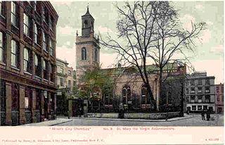 St Mary Aldermanbury Church in London