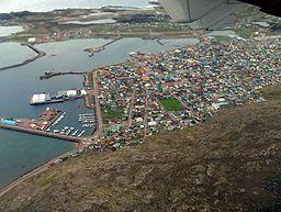 Luftfotografi over byen