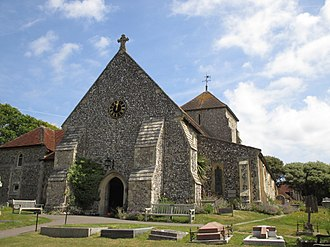 St Margaret's Church, Rottingdean - The west end and entrance