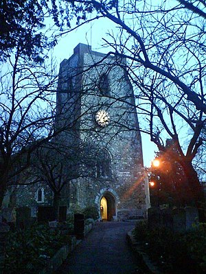 Walton-on-Thames - The Church of St. Mary is among the Grade I listed buildings in Surrey.
