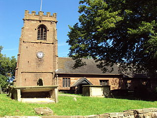 St Michaels Church, Shotwick Church in Cheshire, England